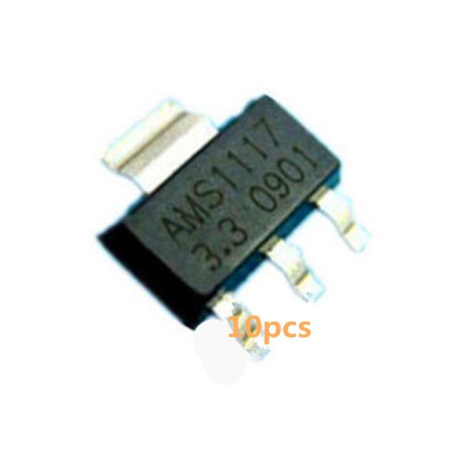 10* AMS1117-3.3 LM1117 3.3V 1A SOT-223  Voltage Regulator