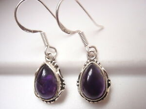 Amethyst-Teardrops-with-Rope-Style-Accents-925-Sterling-Silver-Dangle-Earrings