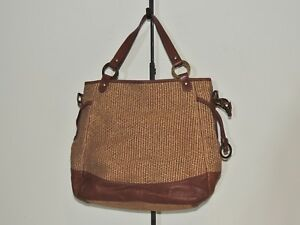 b47c590609a3 Image is loading Tano-Shimmering-Hemp-Brown-Leather-Large-Purse-Shoulder-
