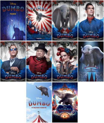 10pc Dumbo Movie 2019 Mirror Surface Card Sticker Promo Card Poster Sticker ASA