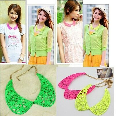 TOP Selling New Fashion Hollow Out Collar Bib Necklace Jewelry 3 colour U pick