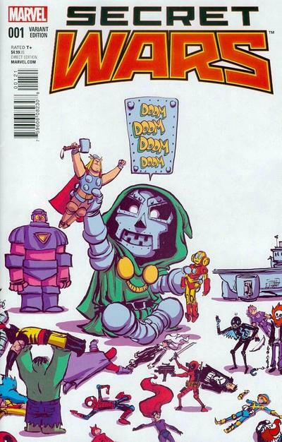 Secret War 1 Skottie Young Baby Variant Hickman Dr Doom Avengers AVX X-Men NM