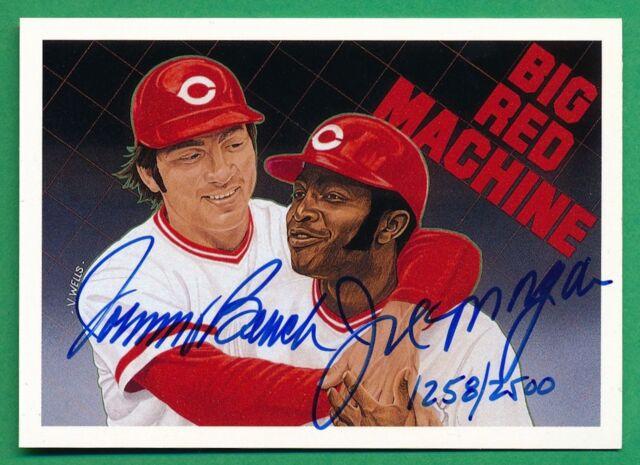 1992 Upper Deck Baseball Heroes Johnny Benchjoe Morgan Autograph Reds 12582500