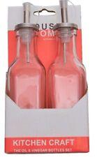 Aceite Vinagre Dispensador Vinagrera De Vidrio Botella Pourer Acero Inoxidable Top cocina de casa
