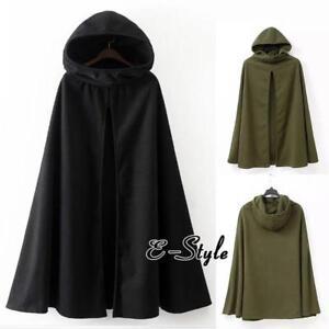 Womens-Long-Cape-Cloak-Hooded-Wool-Blend-Coat-Sleeveless-Winter-Poncho-Cardigan
