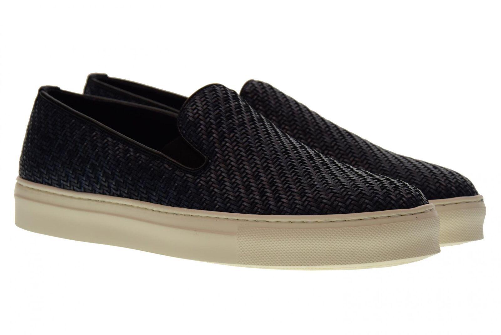Antica Cuoieria P18us shoes men slip on 20123-I-V06 INTRICCIO KIRA blueE