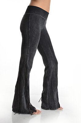 S M L XL New T-PARTY Tri-Color Full SIDE FRINGE Western YOGA PANTS