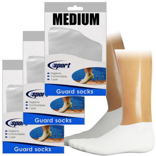 3 Paare iSport Schwimmbad Verruca Latex Gummi Schutz Socken uk3-5