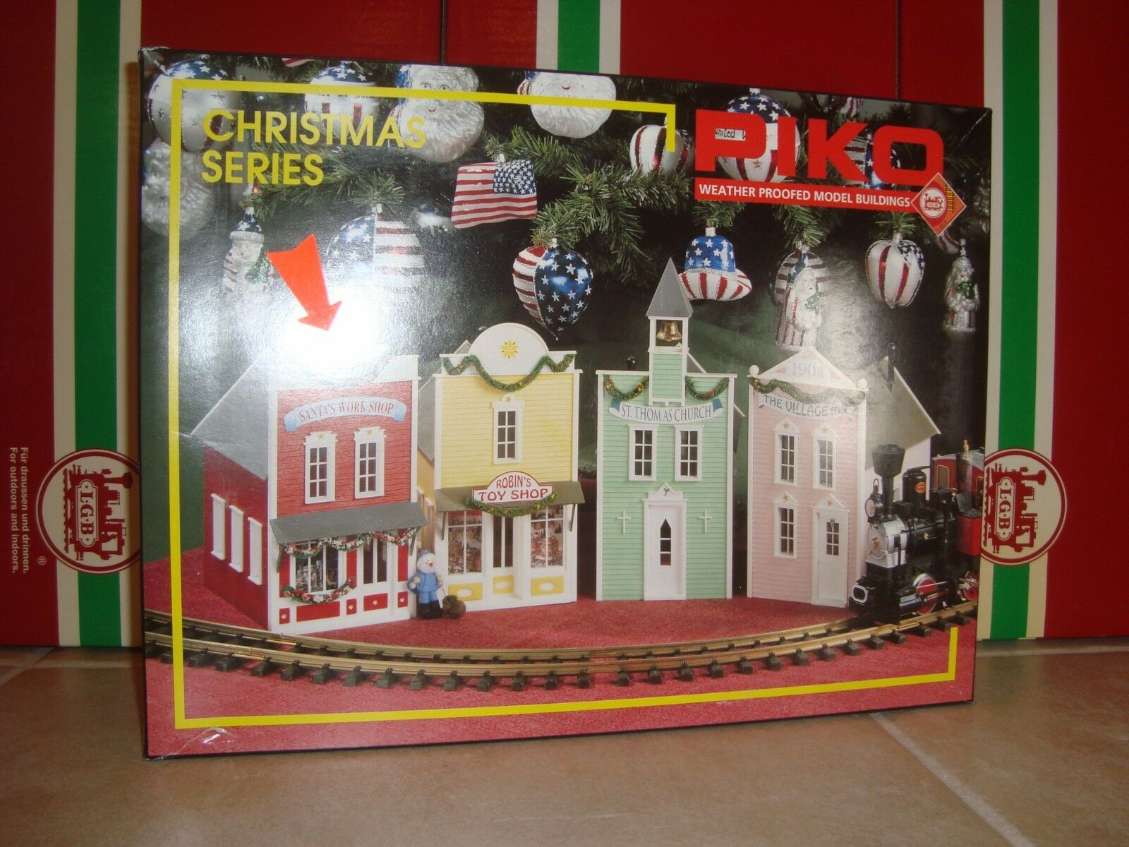 PIKO 62200 CHRISTMAS G SCALE SANTA'S WORK SHOP KIT UNASSEMBLED MODEL NEW IN BOX