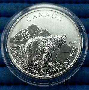 2011-Canada-Wildlife-Series-Grizzly-Bear-1-oz-9999-Fine-Silver-C-5-Coin