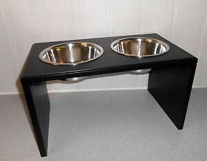 Bol pour chien / nourriture pour chien, Napfbar en noir.   Gr.   Bols!   (146)