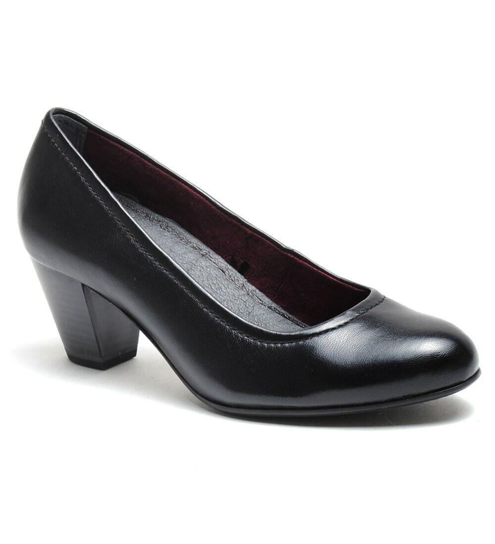 Tamaris Womens Nahla Classic Block Heel Pumps