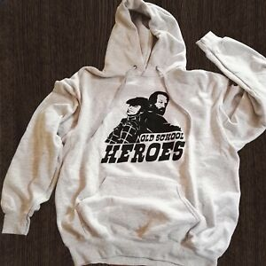 Felpa-Bud-Spencer-Terence-Hill-Old-school-heroes-hoodie-movie-Bomber-grigia