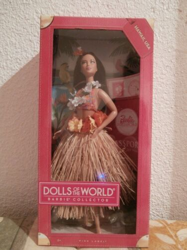 BARBIE HAWAII USA DOLLS OF WORLD 2012 COLLECTION PINK LABEL MINT Sealed NRFB