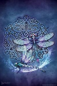 Celtic-Dragonfly-by-Brigid-Ashwood-Art-Print-Mural-Poster-36x54-inch