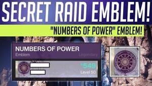 Details about Destiny 2 Forsaken - LAST WISH RAID SECRET EMBLEM [Xbox One]