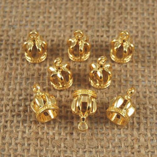 10pcs Alloy Crowns Charms Pendants DIY Craft Jewelry