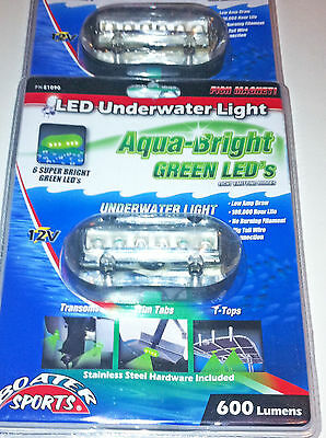 """BLUE UNDERWATER LED BOAT LIGHT 4 INCLUDED 3.5/""""X1.5/"""" 600 LUMENS"""