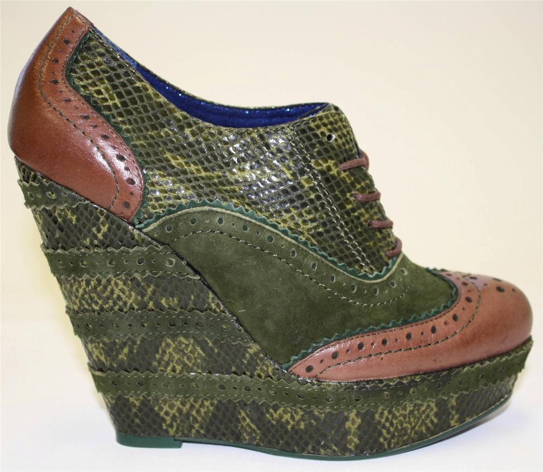 Chaussures Femmes Poetic Licence Wild  Safari Oxford compensées pompe Vert 8 8.5  haute qualité