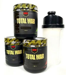 Redcon1-TOTAL-WAR-Pre-Workout-FREE-SHAKER-CUP-New-Formula-ALL-FLAVORS-USA