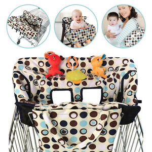 Baby High Chair Seat Shopping Cart Cover Cushion Supermarket Trolley  - /