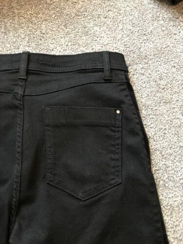 Una Roma Rise Per Nero Skinny Velluto Trim Jeans Taglia 10 S Bnwt Gratuito stesso giorno P /& P