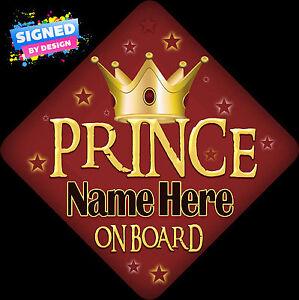 Big Bro/'s Car Sign Like Baby//Child On Board Blue SignedByDesign