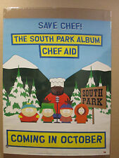 Vintage 1998 The South Park Album Chef Aid poster comedy cartoon 9536