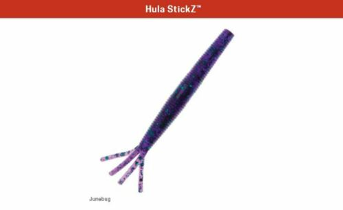 "Junebug Z-Man Hula StickZ 6 Pack 4/"" Zman Soft Plastic"