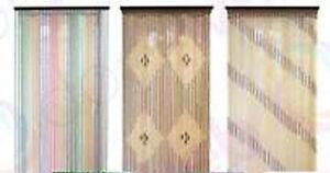 PORTA-di-Perline-Stringa-Per-Tende-Tende-Tendine-Fly-Schermo-Divisorio-Legno-Di-Bambu