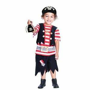 Boys-Pirate-Buccaneer-Costume-Kids-Fancy-Dress-Outfit-Book-Week-Party-Dressup