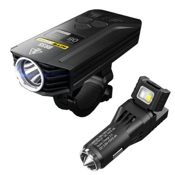Nitecore BR35 1800Lm Recargable Bicicleta Luz con VCL10 Multi-herramienta USB adaptador de coche