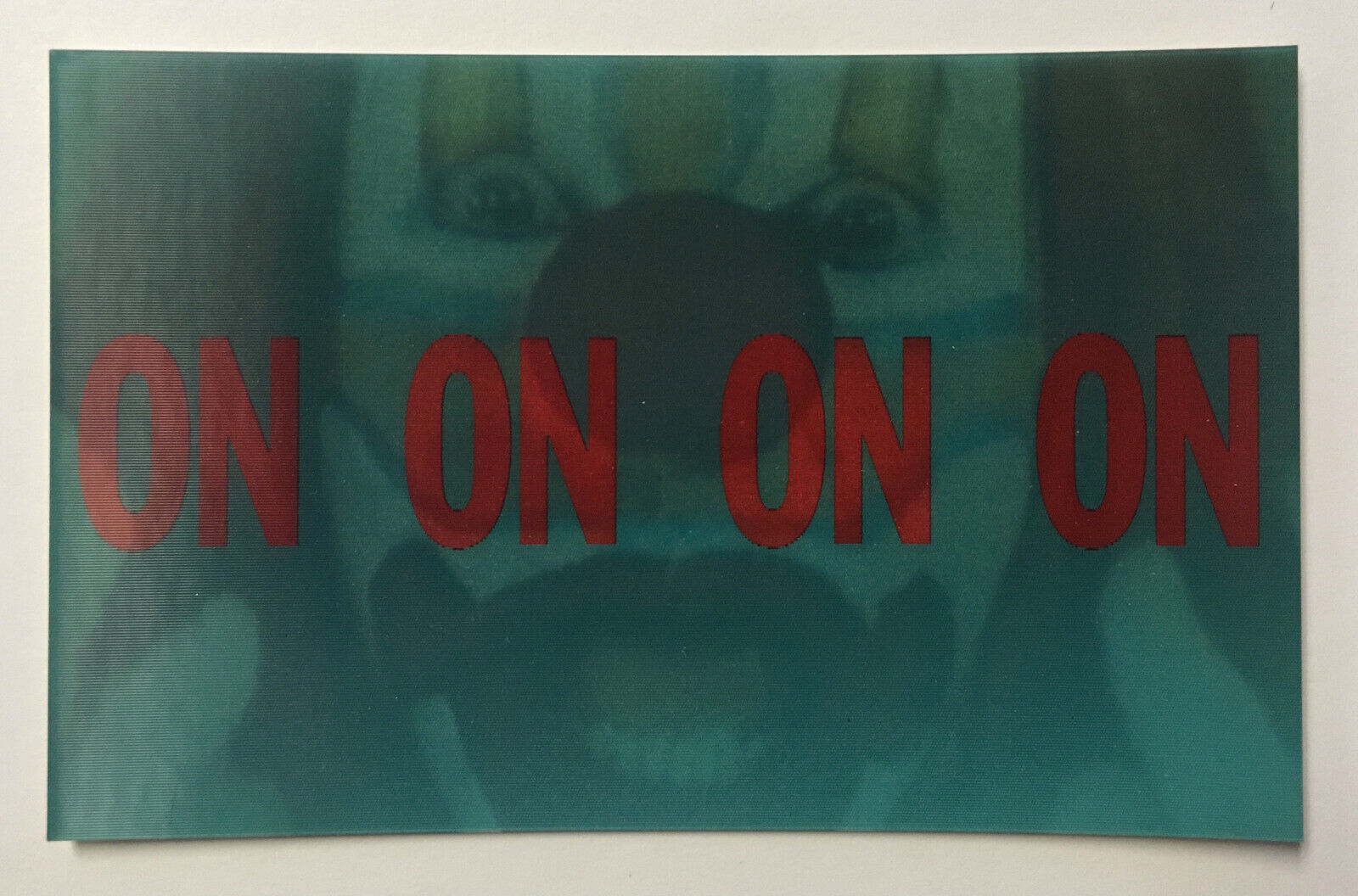 BRUCE NAUMAN Clown Torture (1995) - rare lenticular postcard designed for MOMA on eBay thumbnail