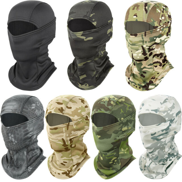 Mens Tactical Military Camo Snood Neck Warmer Headwrap Balaclava Scarf Outdoor