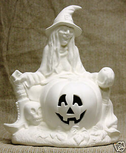 Ceramic bisque witch hazel scioto mold 216 u paint ready for Ceramic based paint