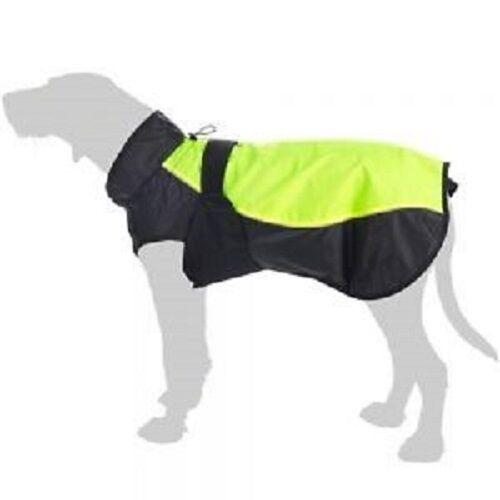 Gilet Cappotto Per Cani Giacca a vento prova prova prova idrorepellente ad alta Viz Riflettente Posteriore 55cm 1b77de