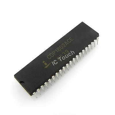 10PCS CMOS 8-Bit Microprocessors IC HARRIS//RCA DIP-40 CDP1802ACE CDP1802ACEX