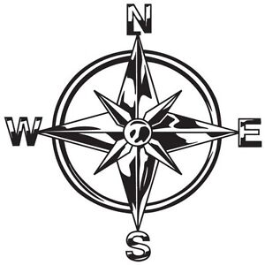 tribal compass rose nautical star car boat bike window vinyl decal