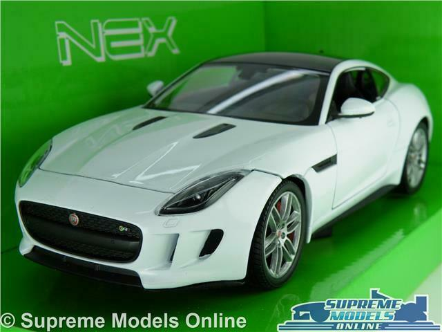 JAGUAR F TYPE COUPE MODEL CAR 1 24 SCALE WHITE SPORTS WELLY NEX OPENING PARTS K8