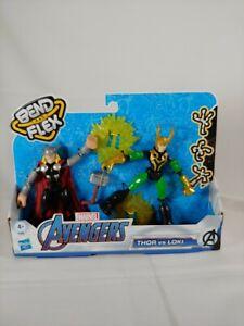 Marvel Avengers Bend and Flex Thor Vs. Loki Action Figure, 6-Inch Flexible - NEW
