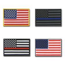 RapDom USA Flag Tactical Mini Rubber H&L Hook & Loop-Back Patch