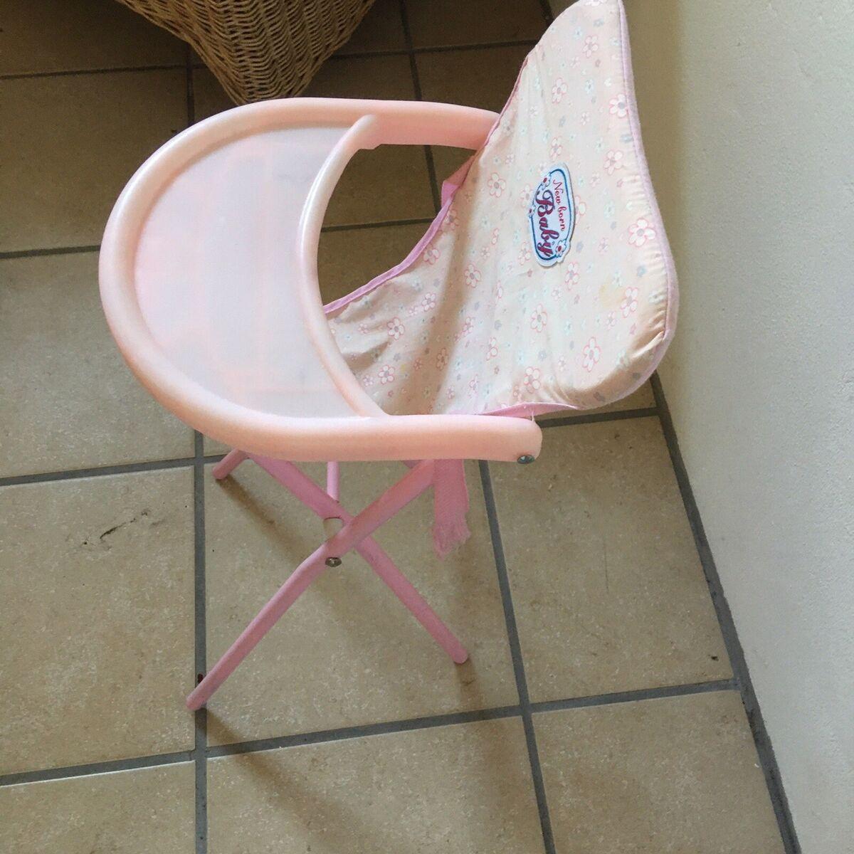 Højstol, Høj stol til baby dukke, andet spil, Fin stol ti