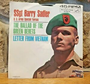 SSgt-Barry-Sadler-45-RPM-The-Ballad-Of-The-Green-Berets-and-Letter-From-Vietnam