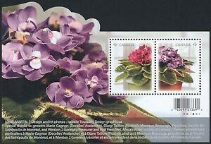 Canada-Stamps-Souvenir-sheet-2010-Flowers-African-Violets-2376-MNH