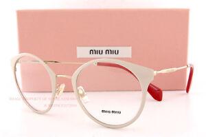 d1322be403 Brand New Miu Miu Eyeglass Frames MU 51P 51PV UST GOLD POWDER For ...
