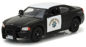 2008-Dodge-Chargeur-California-Highway-Patrouille-1-43-Echelle-Greenlight
