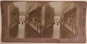 Venezia Pont Dei Sospiri Venezia Italia Foto Stereo Vintage