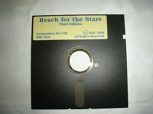 Details about Reach For The Stars Commodore 64 Game 5 1/4 5 25 Floppy Disk  RARE