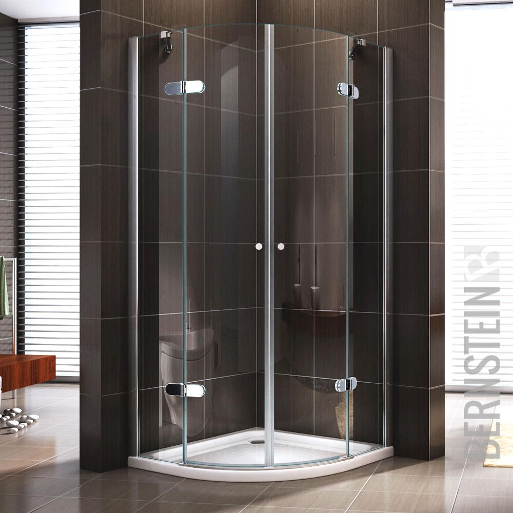 Duschkabine Duschabtrennung Dusche Viertelkreis NANO ESG-Echtglas Glas 195cm