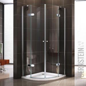 duschkabine duschabtrennung dusche viertelkreis nano esg echtglas glas 195cm ebay. Black Bedroom Furniture Sets. Home Design Ideas